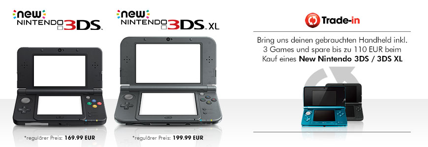 New Nintendo 3DS trade-in Aktion