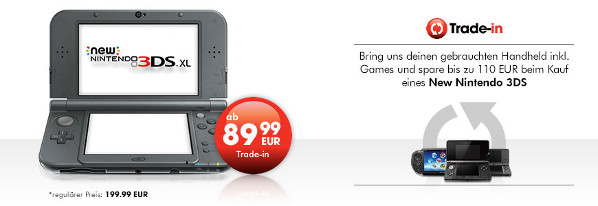 New Nintendo 3DS XL ab 89,99 EUR