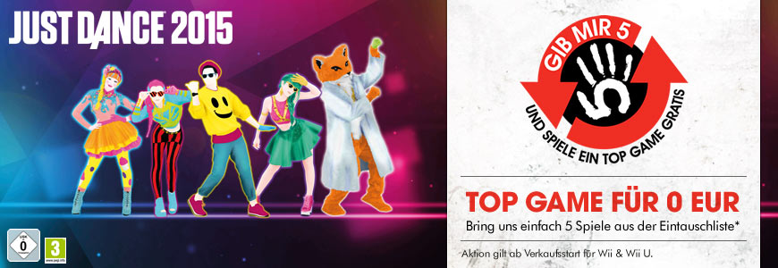 Just Dance 2015 für 0 Euro
