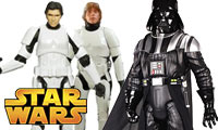 Star Wars Figuren von Darth Vader, Luke Skywalker oder Han Solo