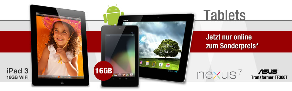Android Tablets jetzt bei GameStop